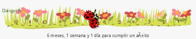 tickers Daisypath aniversario