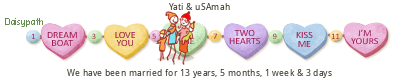 Our Anniversary tickers